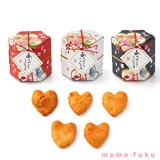 HEART RICE CRACKER - Hexagonal Package